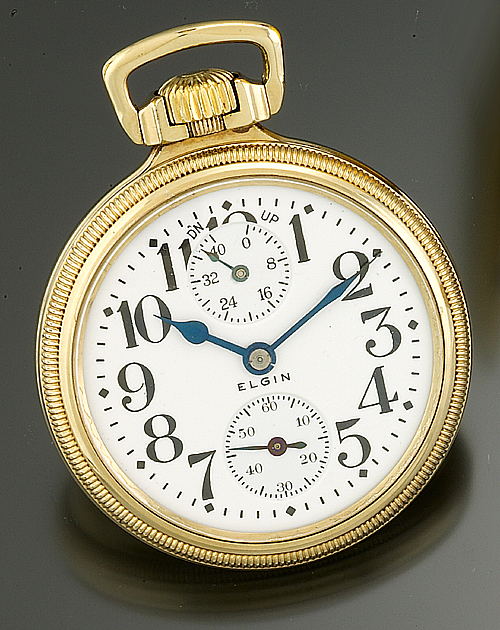 Illinois Enamel Watch Fob & Fancy Strap Jewelry & Watches Circa 1910 Peoria Life Insurance Co