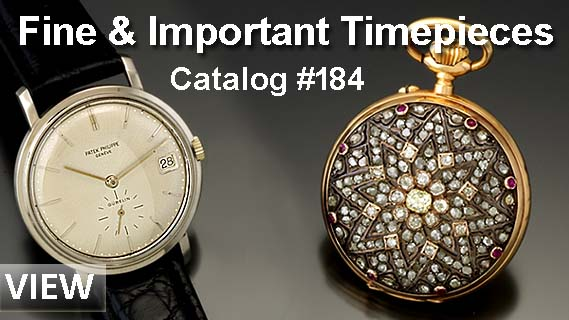 Fine & Important Timepieces Catalog #184