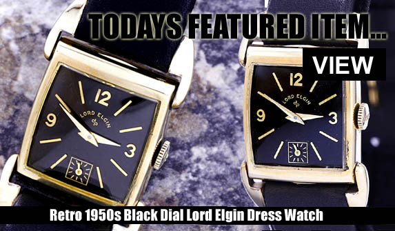 BLACK DIAL GOLD DRESS WATCH